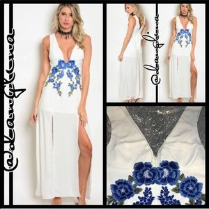 Price⬇️ was 55$Beautiful stitched roses maxi dress